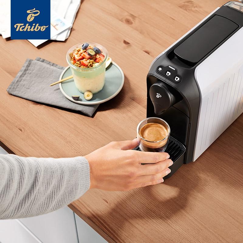 เครื่องทำกาแฟTchibo Qibao เยอรมนีนำเข้าง่ายดาวฝันเครื่องชงกาแฟแคปซูลบ้านอัตโนมัติขนาดเล็กเชิงพาณิชย์แบบพกพา