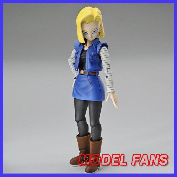 Please CODMODEL FANS Original BANDAI DBZ Figure-rise Standard Android 18 Assembly Action Figure Toys