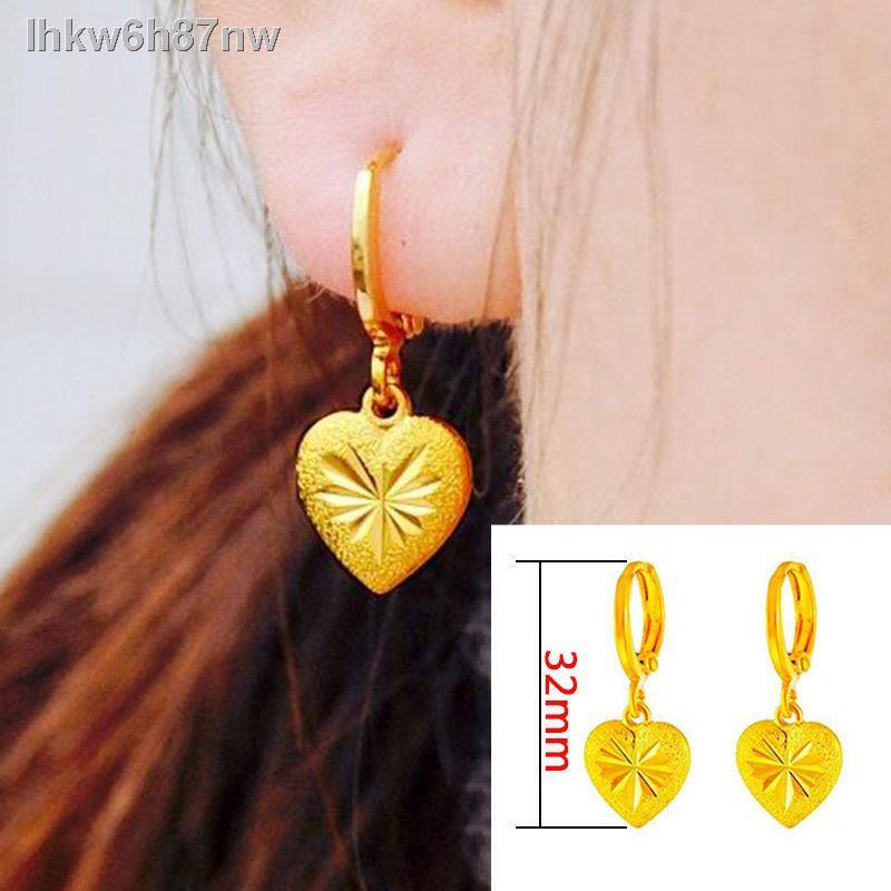 2021🎉สินค้าคุณภาพราคาถูก🎉ต่างหูทอง 3 มิติ, ต่างหูทองของผู้หญิง, ต่างหู, ต่างหูยาวทองคำขาวของเวียดนาม, พู่, ต่างหูดอกไม