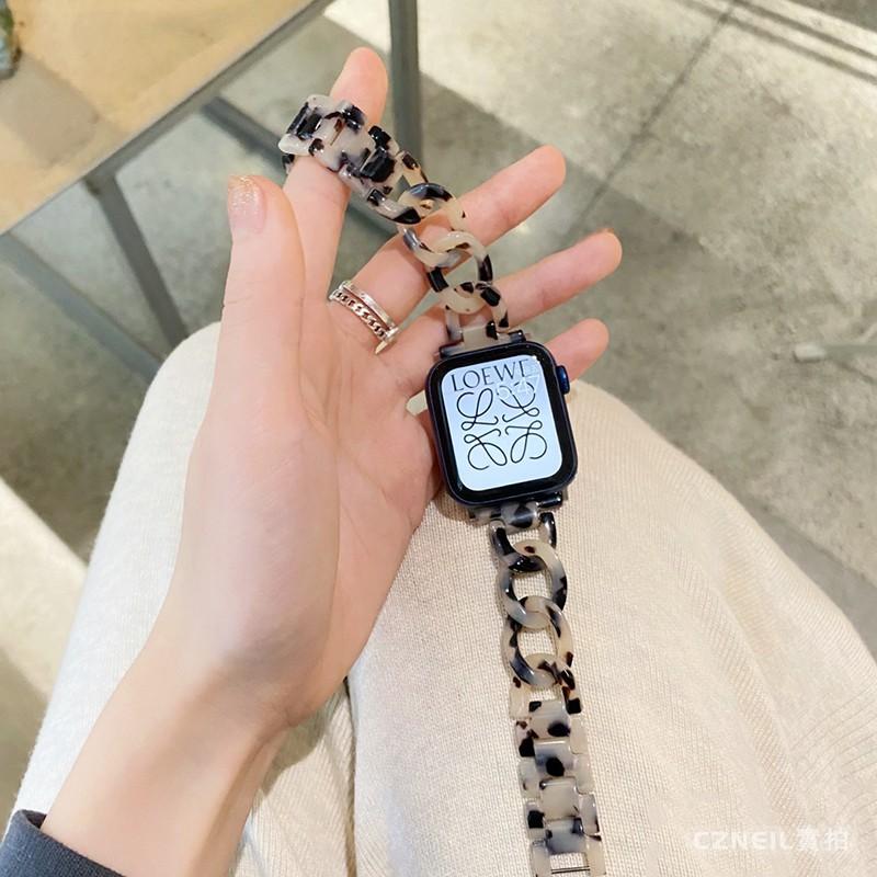 สายนาฬิกาข้อมือแบบเรซิ่นลายหินอ่อนสําหรับ Applewatch 6 Generation Se Iwatch 6 5 4 Se