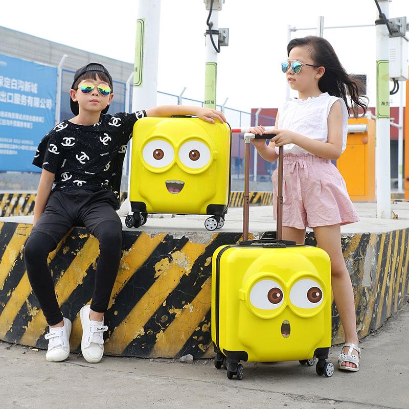 เด็กในห้องโดยสารรถเข็นเด็กสำหรับผู้ชายและผู้หญิง3Dการ์ตูน18กระเป๋าเดินทางเด็กกระเป๋าเดินทางนิ้ว20ล้อ16-กระเป๋าเดินทางโคร