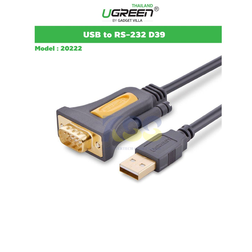 USB to RS232 DB9 Port Serial COM Cable Adapter Converter Windows XP 7 8 10