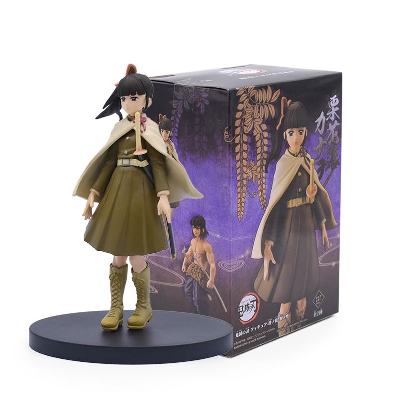 ใหม่★ Demon Slayer Figure Toy Kamado Nezuko Kamado Tanjirou Agatsuma Zenitsu Hashibira Inosuke  PVC Action Figure Model