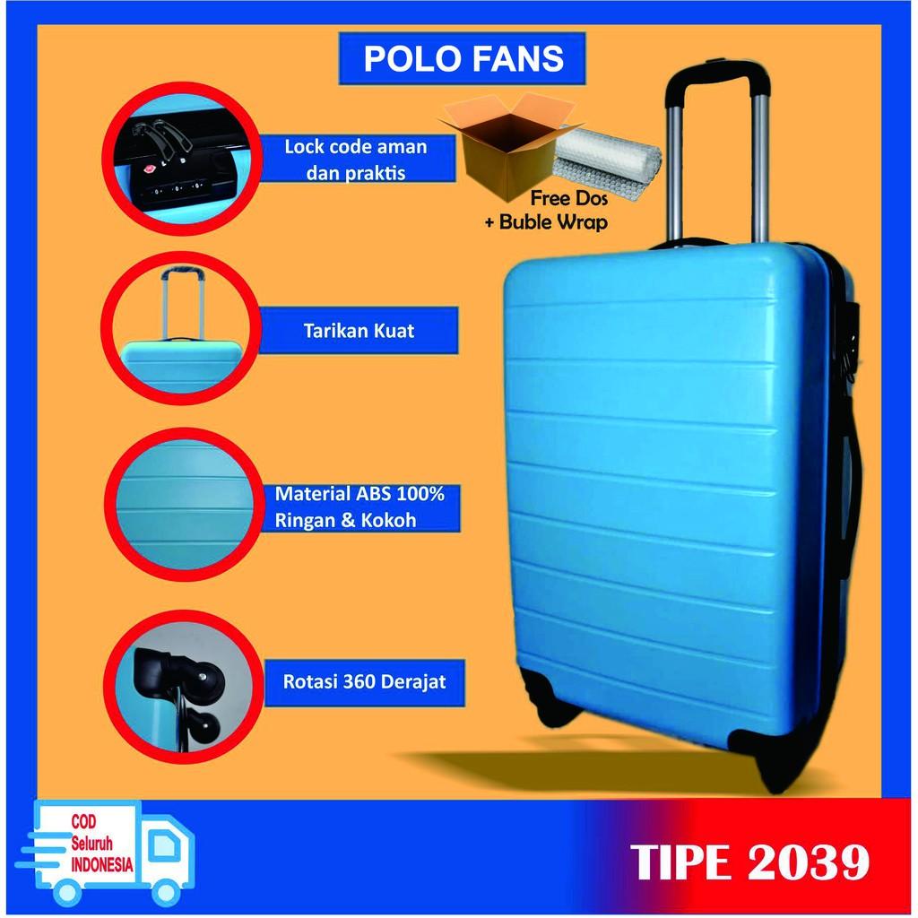 Polo กระเป๋าเดินทางขนาด 24 นิ้ว 2039 / กระเป๋าเดินทาง / กระเป๋าเดินทาง / ร่มกระเป๋าเดินทางสีฟ้าอ่อน