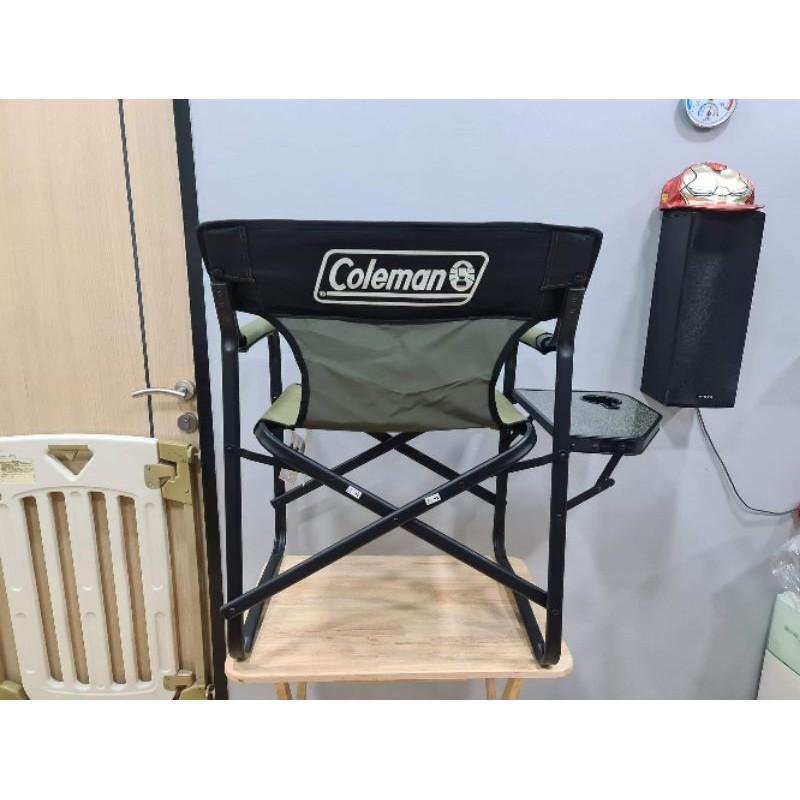 SIT_เก้าอี้สนาม  Coleman Side Table Deck Chair (Olive) เก้าอี้พับเก้าอี้แคมป์ปิ้ง