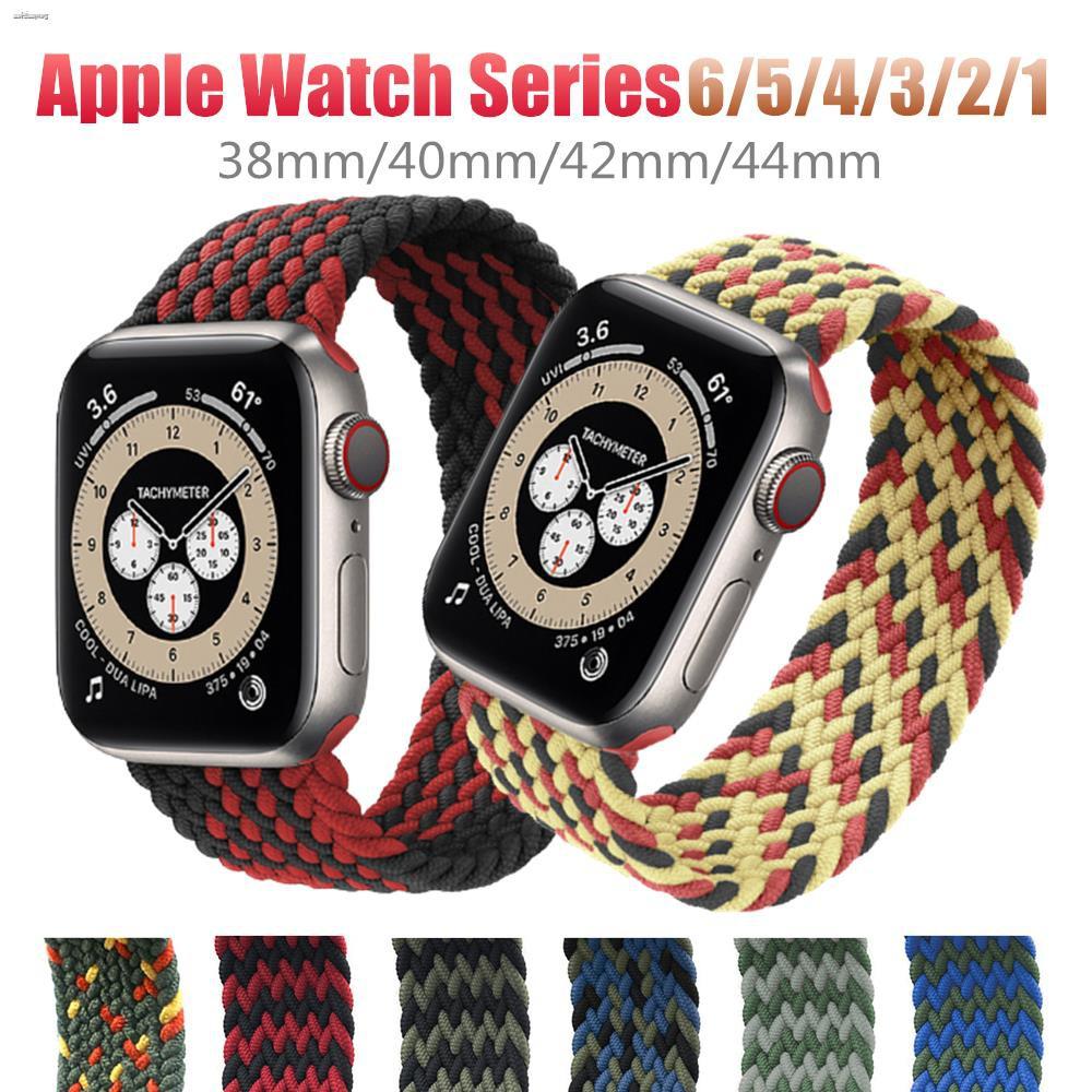 สาย applewatch newest Woven Solo Braided Loop Watch strap for apple 6 se 40 มม 44 42 38 iwatch series 5 4 3 2 1