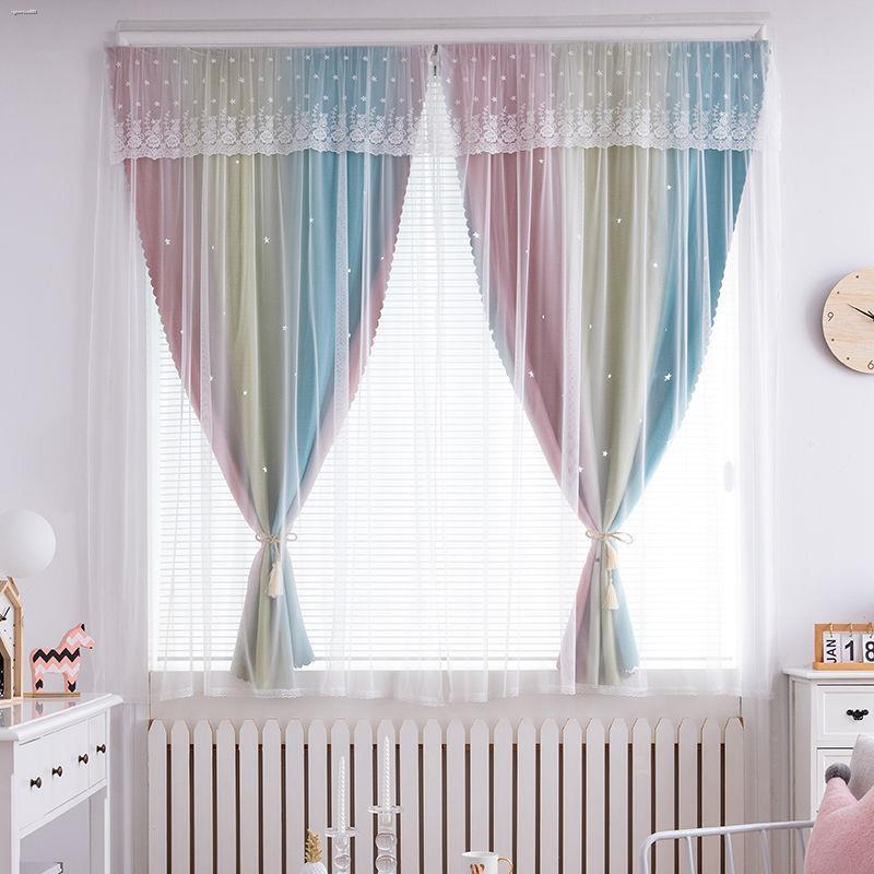 ✶ผ้าม่าน ผ้าม่านทึบ ผ้าม่านสำเร็จรูป กันยูวี70%—100%  ผ้าม่านแบบไม่ต้องเจาะ, แรเงาผลิตภัณฑ์สำเร็จรูป, บ้านเช่าห้องนอน,