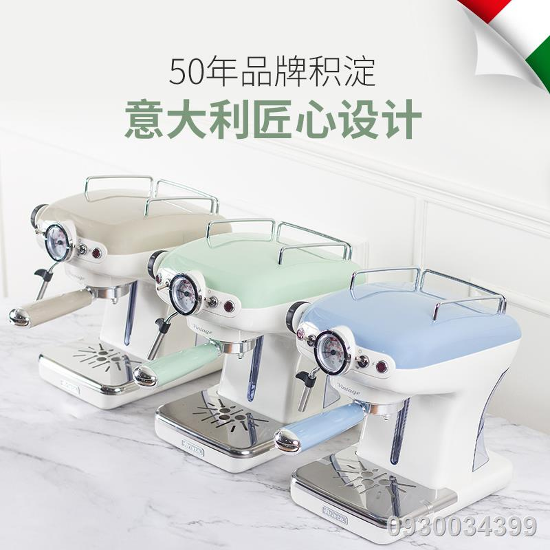 ✉Dron Ariete/Ariete เครื่องชงกาแฟกึ่งอัตโนมัติอิตาลี เครื่องทำฟองนมย้อนยุคขนาดเล็กในครัวเรือน คู่มือมินิ