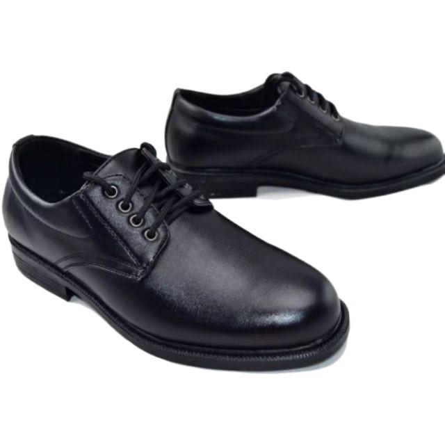 ☊☢☌รองเท้า คัชชูหนัง ผู้ชายแบบ ผูกเชือก CSB 545 ไซส์ 39-45 รองเท้าหนังผูกเชือก  เป็นหนังเทียม นิ่ม สีดำ🌈