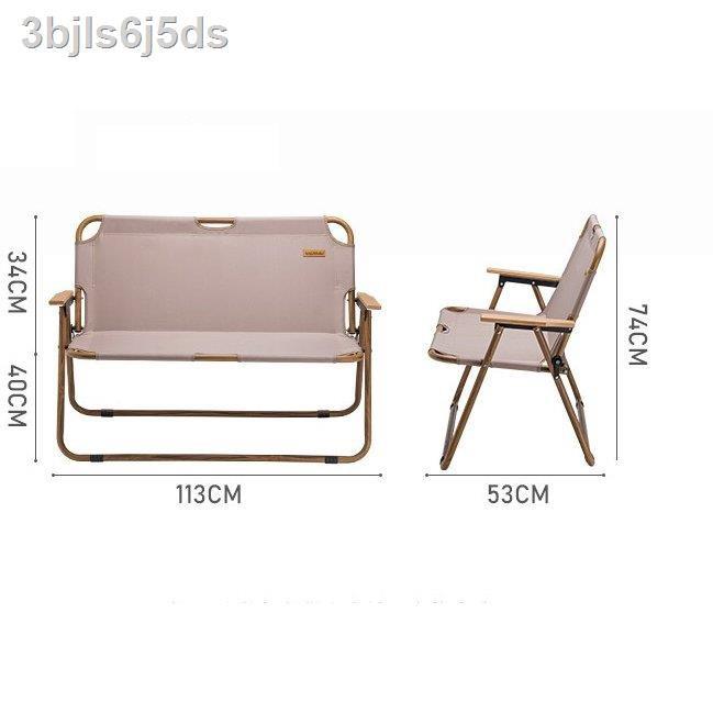 🔥มีของพร้อมส่ง🔥ลดราคา🔥☾ﺴ✘NatureHike เก้าอี้นั่งอลูมินแบบยาว