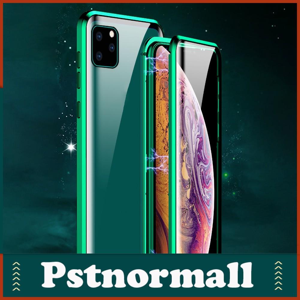 ( Pstnormall ) เคสโทรศัพท์มือถือแบบสองด้านสําหรับ Iphone 11 Pro Max