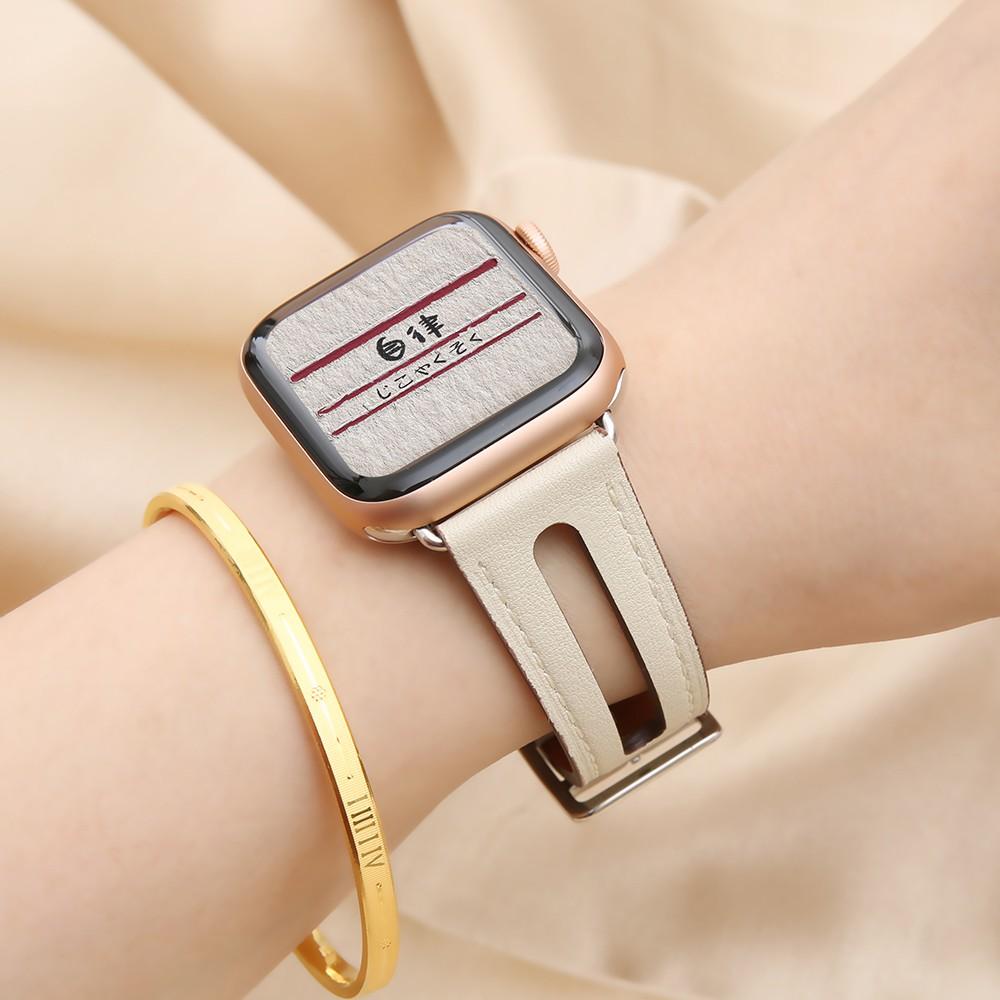 บังคับapple watchสายนาฬิกาหนังสำหรับ Appleiwatch3/2/4กับตัวแทน38/42/40/44mm seriesกีฬาwatch5รุ่นapplewatchสาย