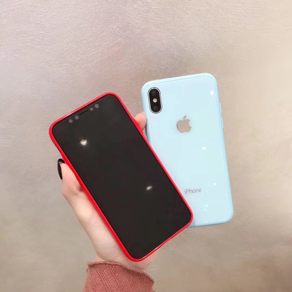 Image # 7 of Review เคสเอฟเฟคเเก้ว สีสันสดใส สำหรับ  iPhone 11 pro max i11 6 6 S 7 8 Plus X XR XS Max phone Case
