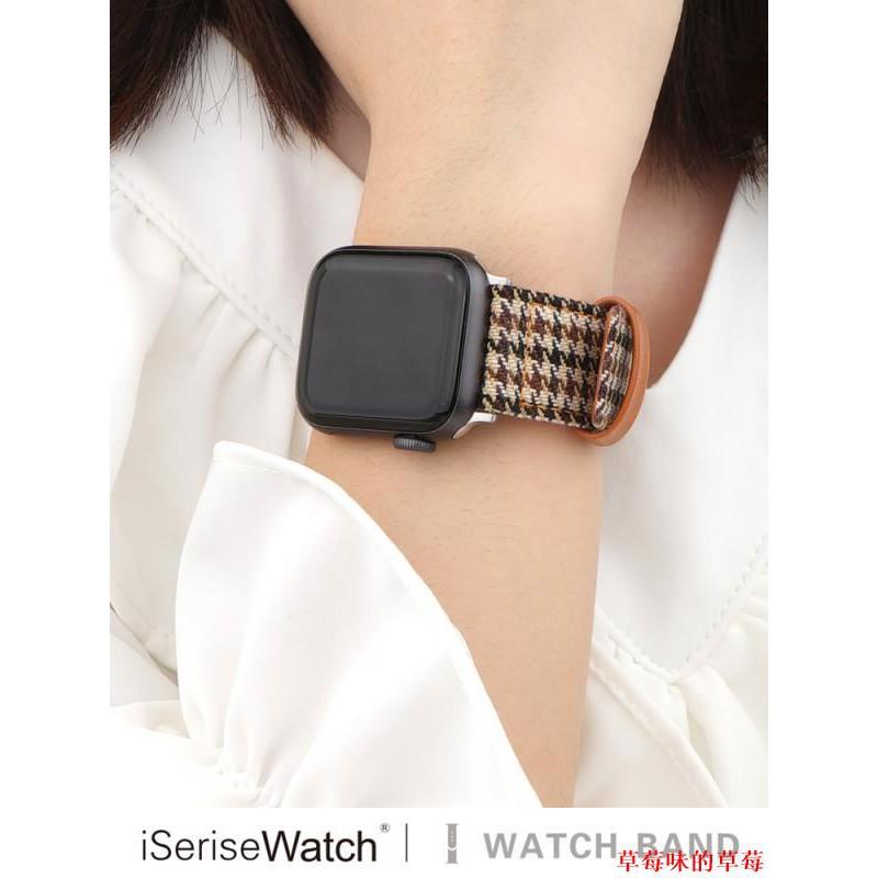 สายนาฬิกาข้อมือสําหรับ Apple Watch Houndstooth Applewatch6 / 5 / 4se