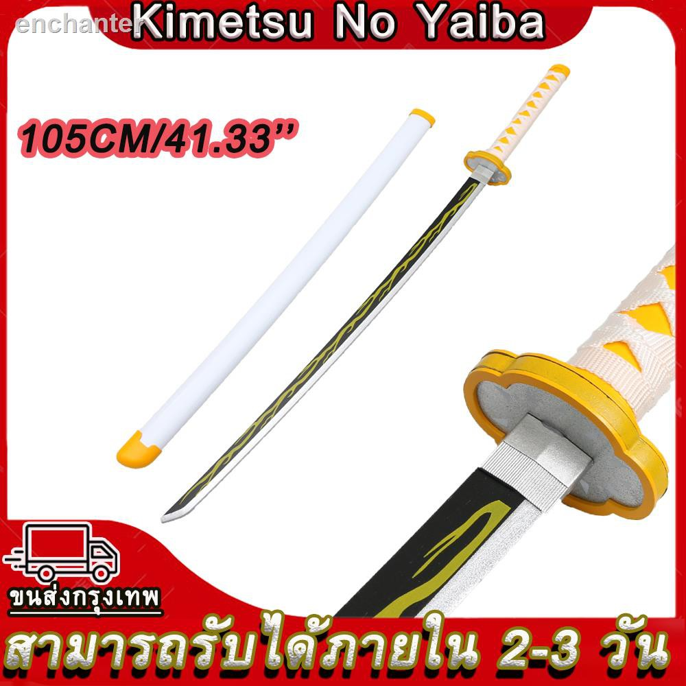 🔥สินค้าคุณภาพราคาถูก🔥☎✹anime Demon Slayer Kimetsu No Yaiba Sword Kanawo Tanjirou Zenitsu Giyuu Shinobu Katana Model ด