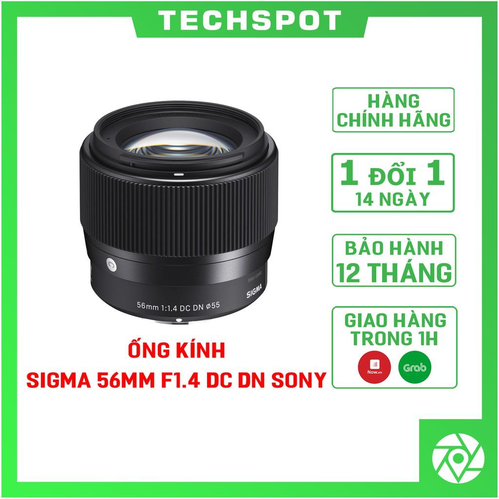 [Mã SKAMPUSHA7 giảm 8% đơn 250k]( TẶNG THÊM 1 NĂM BẢO HÀNH ) Ống Kính Sigma 56mm F1.4 DC DN For Sony E - Chính Hãng