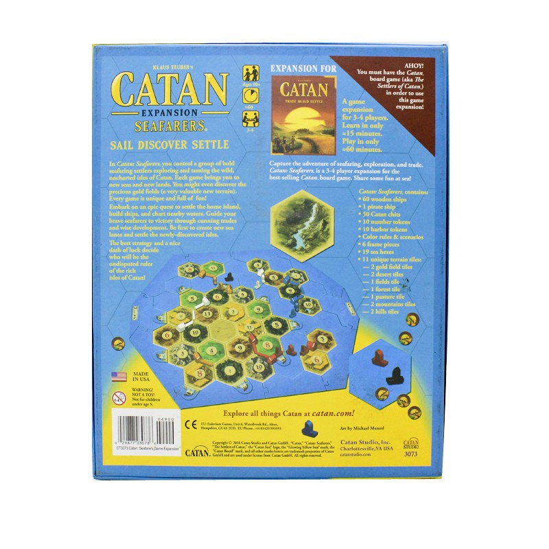 Complete Set of Wood Ships for Settlers of Catan Seafarers Gold Pieces