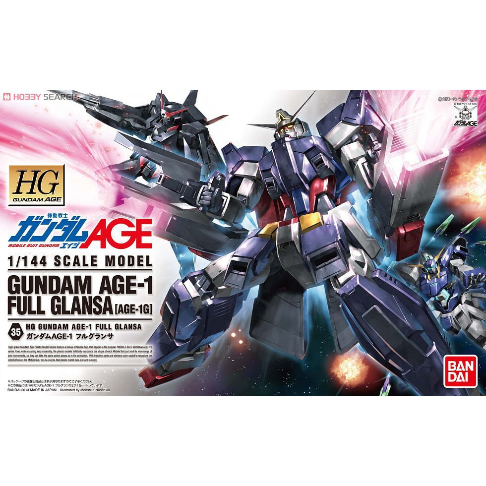 HG Gundam AGE-1 Full Glanza (AGE) BANDAI 4573102573902
