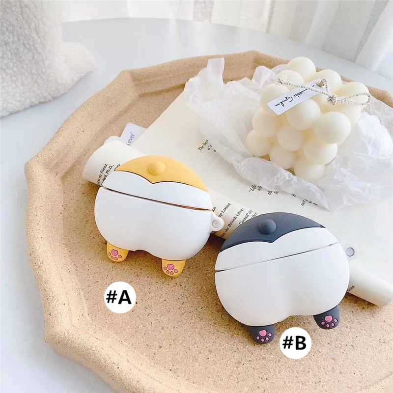Apple AirPods Pro Case airpods3 Covers Soft Case airpods 3 airpodspro airpods 2 airpods2 Silicone case dog corgi