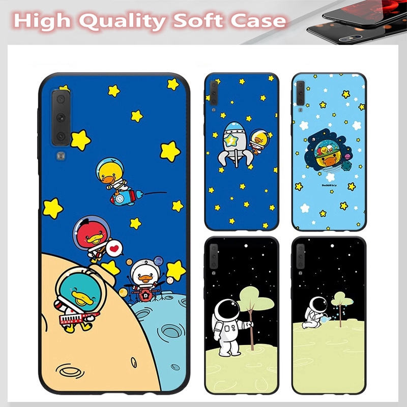 casing for SAMSUNG A2 CORE J7 Pro J7 PLUS A6 A6+ A7 A8 A8+ A8 Star A9 2018 Cover Space duck Soft Case