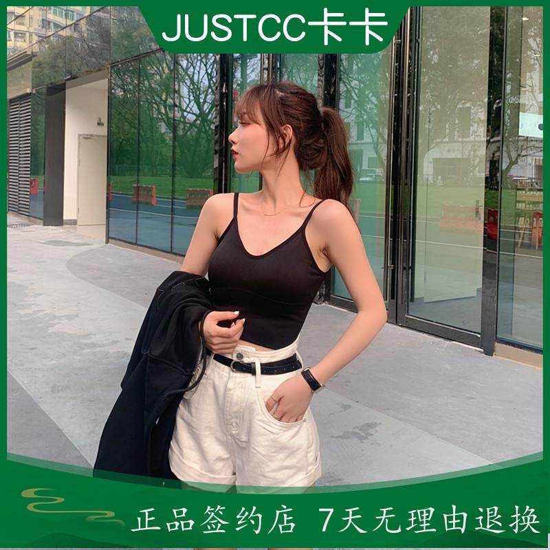 เสื้อซับJUSTCCKakaสั่นเครือข่ายเสียงสีแดงวรรคเดียวกันปรับ聚隆แผ่นหน้าอกเซ็กซี่งามกีฬาสายรัดเสื้อกั๊กชุดชั้นในเพศหญิง DEVY