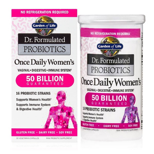 🔥 Pre-order 🇺🇸USA🔥Garden of Life Dr. Formulated Probiotics, Once Daily Women's, 30 Vegetarian Capsules