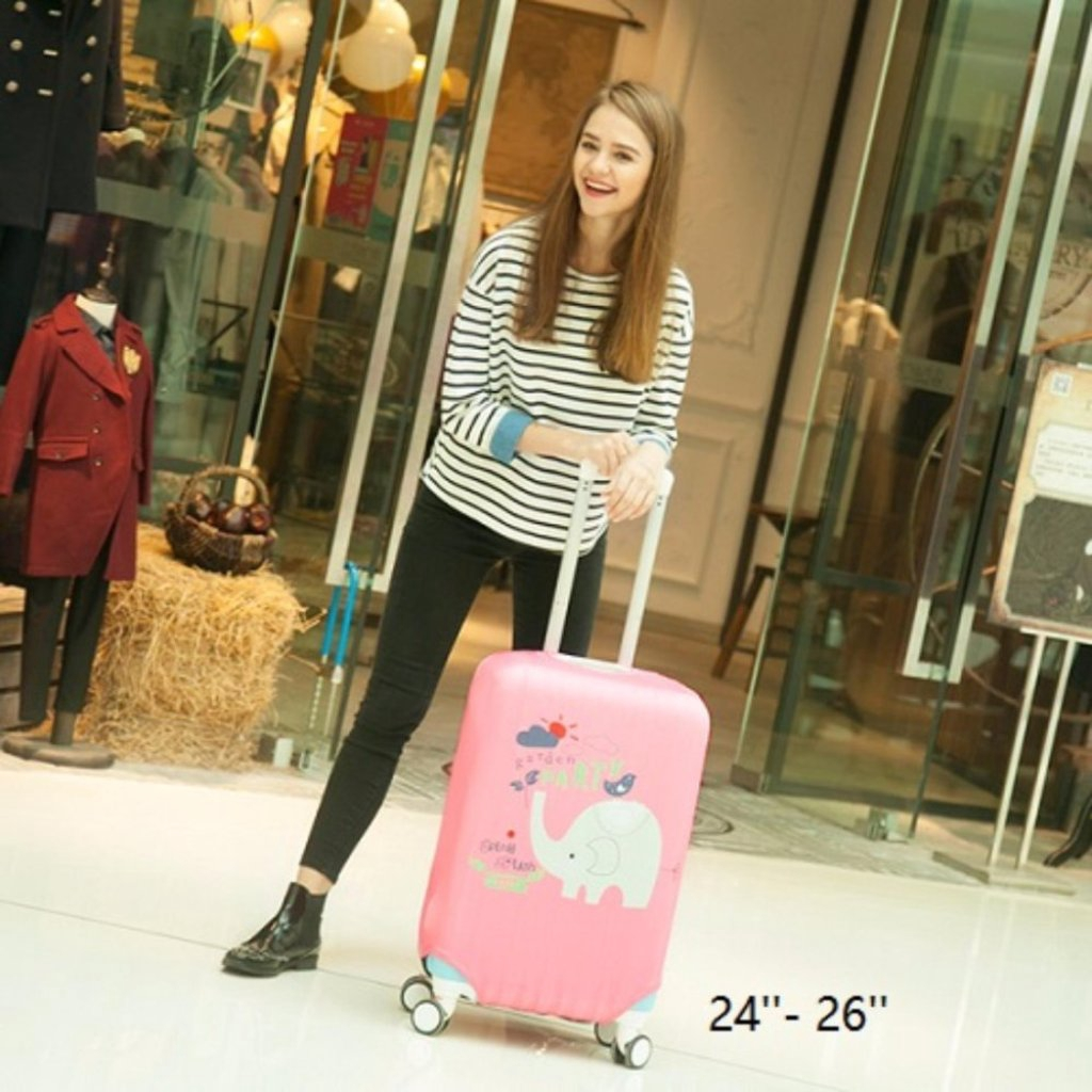 MI  ผ้าคลุมกระเป๋าเดินทาง ผ้ายืด M97 สำหรับกระเป๋าเดินทางไซส์ 24-26 นิ้วI  ผ้าคลุมกระเป๋าเดินทาง ผ้ายืด M97 สำหรับกระเป๋