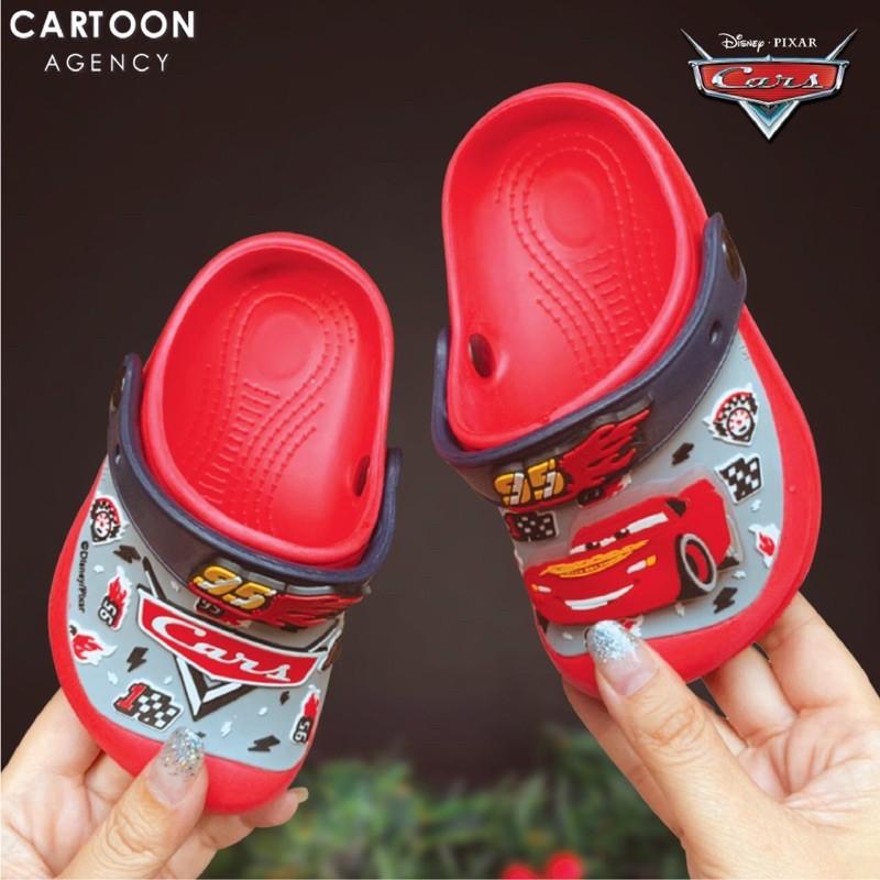 คัชชู~ รองเท้าเด็กรัดส้นทรงCroc มีไฟลายCar🚗🚗🚗