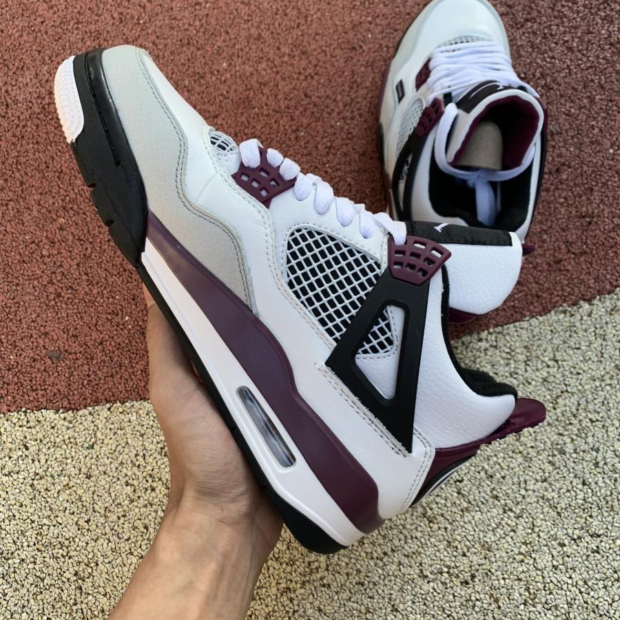 "2020New Balenciaga x Air Jordan 4 ""PSG"" AJ4 Basketball shoes cz5624-100"