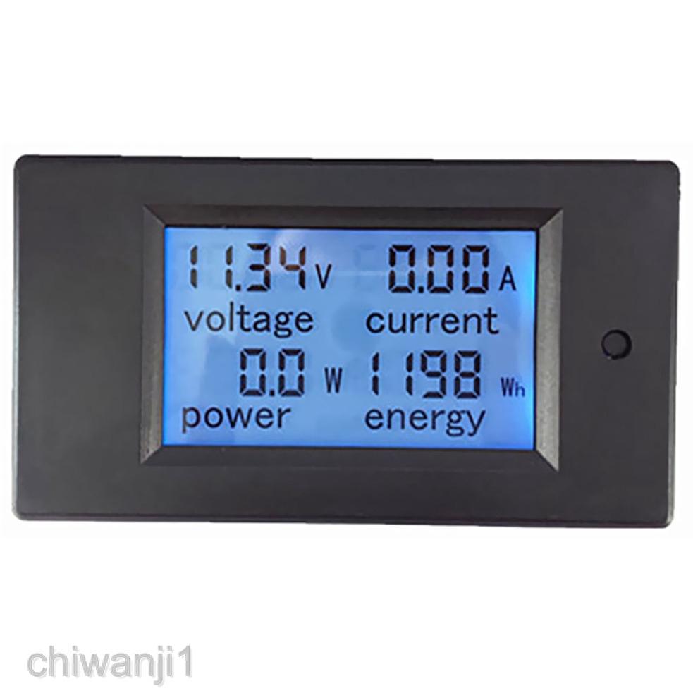 Red LED Amp Dual Digital Volt Meter ASS DC 100V 10A Voltmeter Ammeter Blue