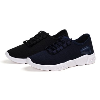 MMC รองเท้าผ้าใบผู้ชาย (สีดำ) (สีน้ำเงิน) รุ่น 9106