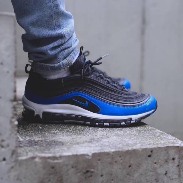 "Nike Air Max 97 ""Binary Blue"" BlackBlue Nebula Wolf Grey White"