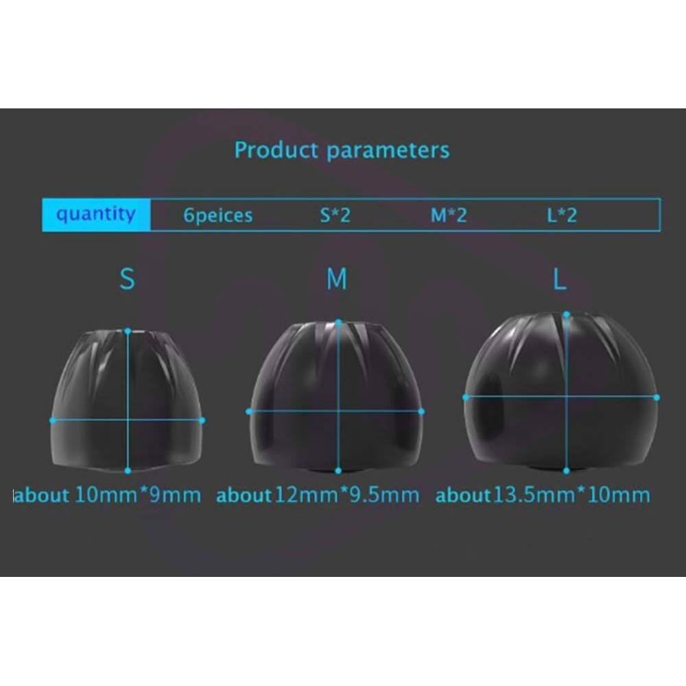 KZ ORIGINAL KZ Super Soft eartips silicone จุกหูฟังดีไซน์ใหม่ แพ็ค 3 คู่ 3 ขนาด S,M,L ใช้ร่วมได้กับTWSบางรุ่น *สอบถามแชท
