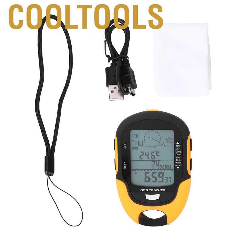 SUNROAD GPS Navigation Receiver USB Rechargeable Digital Altimeter Barometer