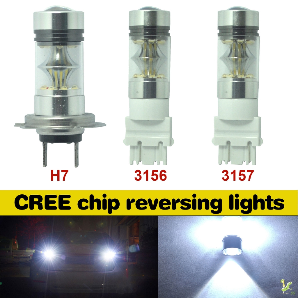 2x 6000K White 80W 9005 HB3 CREE LED Bulb Projector Fog Driving DRL Light 1500LM