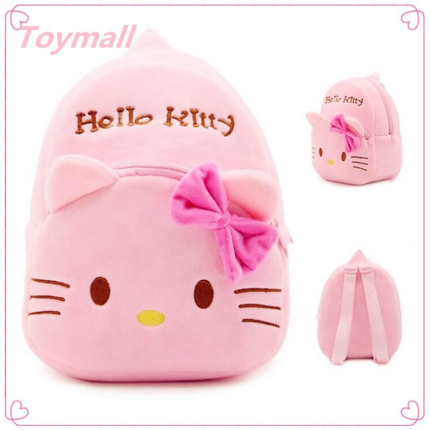 Hello Kitty Coin Purse White Plush Pink Glittery Bow NEW