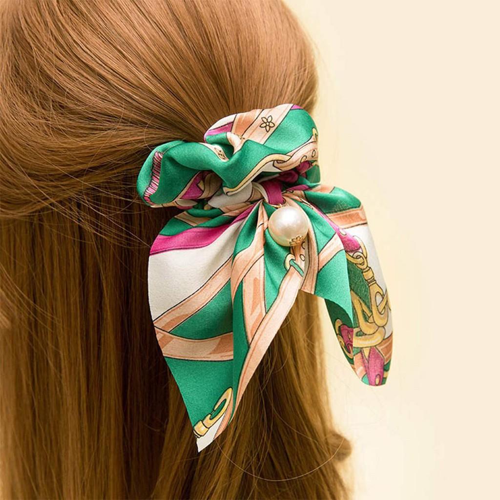 6Pcs Womens Silk Satin Hair Scrunchies Elastic Hair Rings Ponytail Holders