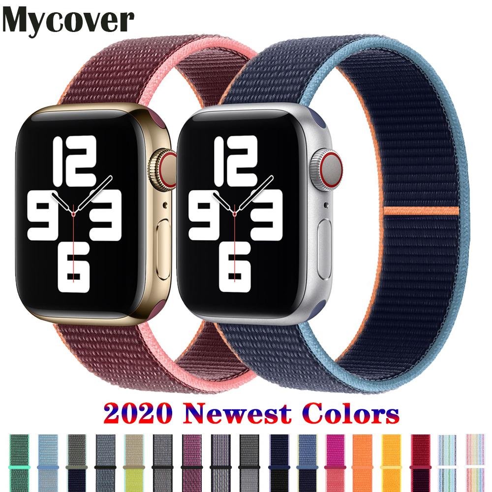 สายนาฬิกาข้อมือไนล่อน 2020 สําหรับ Apple Watch Series 6 Se Band 44 มม. 40 มม. 38 มม. 42 มม. Iwatch 5 4 3 2 1:1 คัดลอกสํานักงาน