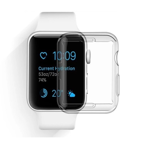 Watch Case Apple Watch 6 SE 5 4 3 2 1 44 42 40 38 mm cover Soft Clear Silicone Full Overlay Protector Screen Touchable Case