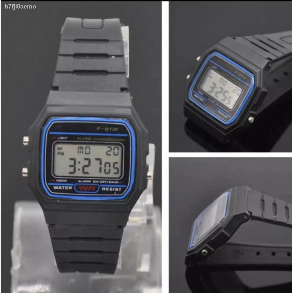 ❖✜Casio นาฬิกาข้อมือผู้ชาย สายสแตนเลส รุ่น A158WA-1DF - สีเงิน