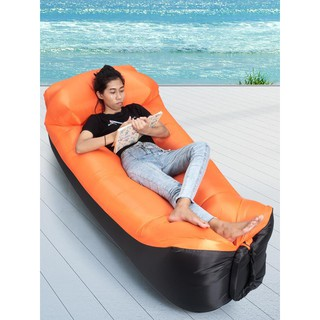 Review โซฟาเป่าลมแบบพกพาพร้อมหมอนหนุน Inflatable Couch and Pillow