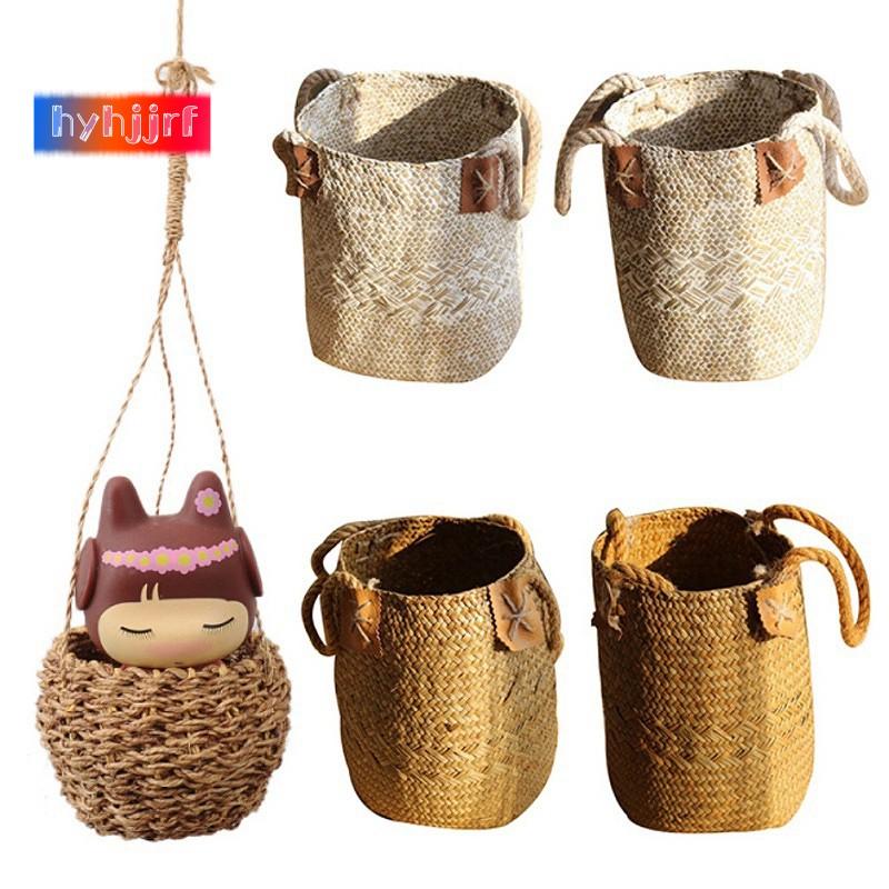 Seagrass Wicker Basket Wicker Basket Flower Pot Folding Basket Dirty Basket USA