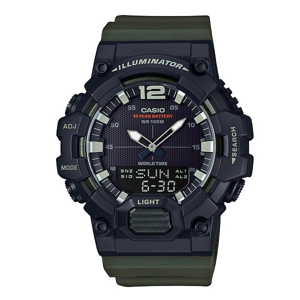 นาฬิกาข้อมือแบรนด์ CASIO HDC-700-3AV สีเขียวด้าน