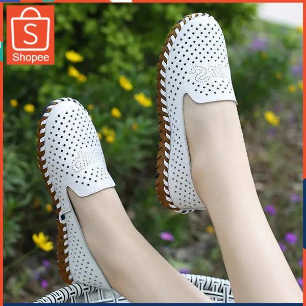 รองเท้าคัชชู ใส่สบาย สำหรับผู้หญิง รุ่นสีเรียบใส่ทำงาน หนังตื้นปากรองเท้าเดียวฤดูใบไม้ผลิใหม่และฤดูร้อนแบนฟอร์ดด้านล่างน
