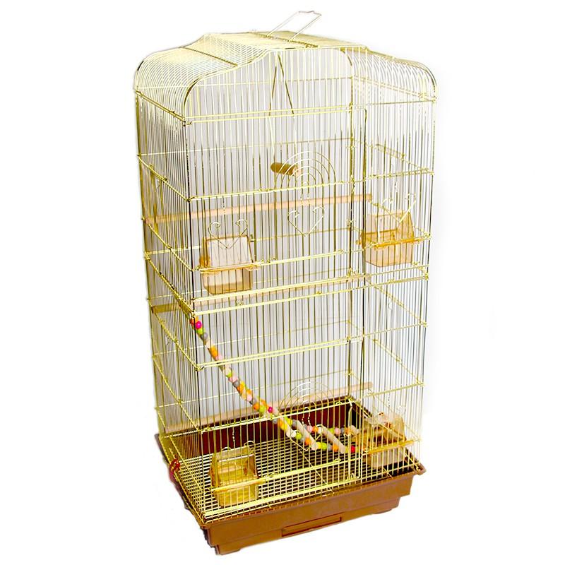 ◐▬กรงนกขนาดใหญ่สไตล์ยุโรปหนังเสือ Xuanfeng นกแก้วสีทองนกแก้วสีทองวิลล่าขนาดใหญ่หรูหรากรงนกเหล็กดัดกล่องเพาะพันธุ์