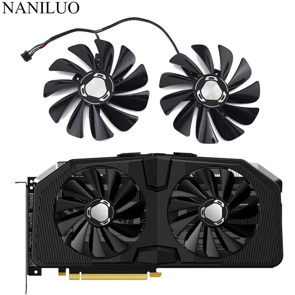2pcs/lot FDC10U12S9-C 4Pin RX 5600XT 5700XT Cooler Fan For XFX Radeon RX 5600 5700 XT RAW II Graphic Cards Cooling Fan