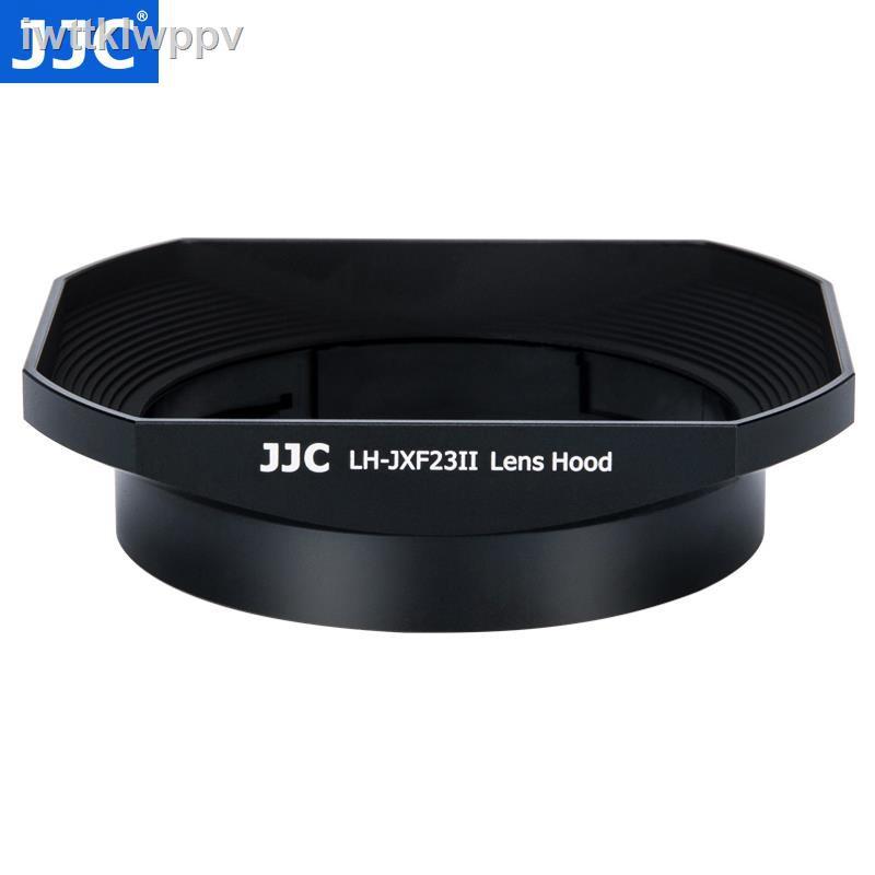 ราคาถูก✣JJC ใช้ Fuji LH-XF23 เลนส์ฮูด XF 23 มม. f1.4 เลนส์ 56 F1.2 R / XF56mm APD กล้อง XT30 XT3 XT4 โลหะสี่เหลี่ยม 62