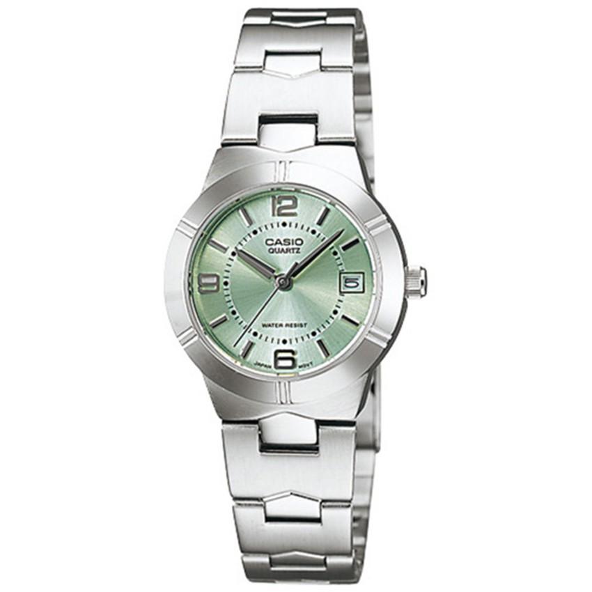 Casio นาฬิกาข้อมือ สายสแตนเลส รุ่น LTP-1241D-3ADF-Silver