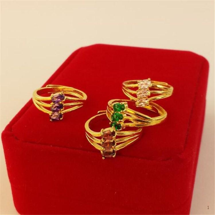 แหวนพลอยมรกตแหวนหยกเวียดนามงานแต่งงานทองขาวแหวนทองแหวนหญิงราคาพิเศษไม่หลุดแหวนอื่นใด