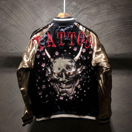 SUKAJAN พรีเมียมเกรด Japanese Souvenir Jacket  แจ็คเกตซูกาจันลาย  HANYA TATTOO